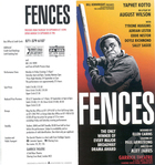 Flyer for Fences by August Wilson