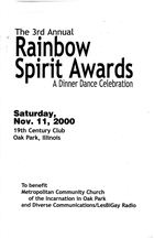 The 3rd Annual Rainbow Spirit Awards