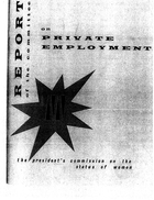 Report of the Committee on Private Employment, October 1963