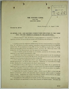 Circular No. 667-15 - Quarters, Fuel and Electric Current for Employees on Gold Roll and for American Citizens on Silver Roll, [Signed] Chester Harding,  August 5, 1916