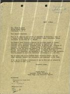 Letter from Murray Stein to Henry Dworshak re: Letter from Fulton Cook Concerning Sewage Facilities at the City of St. Maries, October 4, 1961