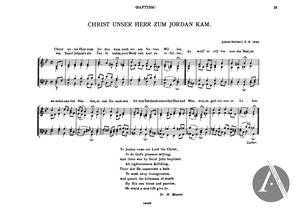Christ Unser Herr zum Jordan Kam, BWV 7