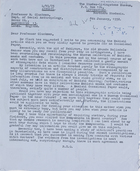 Barrie Reynolds, Keeper of Ethnography, RLI, to MG, 8 Jan. 1958