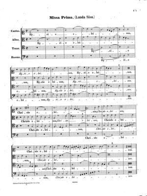 Missa Lauda Sion, Op. 21