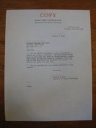 Stanley Milgram to Franconi Mailing List Corp., October 3, 1966