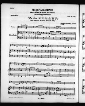 Sechs Variationen, K. 360