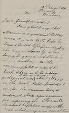 Letter from Robert Lockhart Jack to Robert and Maggie Jack, August 13, 1892