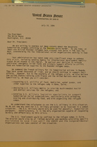 Letter to President Clinton re: Humanitarian Tragedy Unfolding on the Rwandan-Zaire Border, July 19, 1994