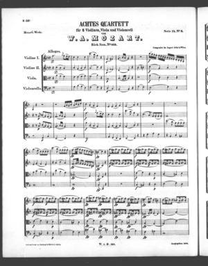 Achtes Quartett, K. 168