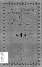 12th Annual Governor's Award for Outstanding New Mexico Women