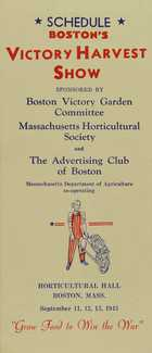 SCHEDULE BOSTON'S Victory Harvest Show