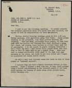 Copy of Letter from Mr. S. Tyson to Brigadier Sir John G. Smyth re: Complaints about Noise from West Indian Neighbours, July 19, 1959