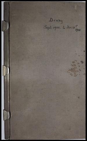 Diary, September 1904 to December 31, 1905