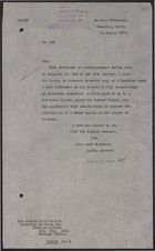 Letter from W. A. Smart to Foreign Office re: Meeting with Horace Samuel on a Druze Appeal to the League of Nations, August 18, 1925