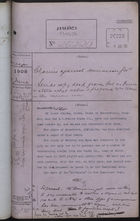 Colonial Office Correspondence Register, re: Letter from Foreign Office on Claims Filed Against Dominican Government, with Related Minutes, June 1908