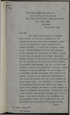 Copy of letter from G. S. Muir to Lord Curzon, re: UK supplying morphia to China and Japan, January 2, 1920