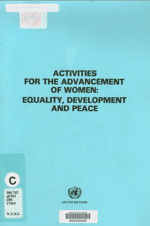 Activities for the Advancement of Women: Equality, Development, and Peace: Report of Jean Fernand-Laurent, Special Rapporteur on the Suppression of the Traffic in Persons and the Exploitation of the Prostitution of Others
