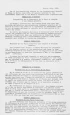 Letter to the Presidents of National Councils from President of the International Council of Women, August 23rd, 1933
