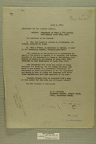 Memo from E. D. Anderson re: Engagement of Troop M, 8th Cavalry, with Bandits March 2, 1919, April 4, 1919