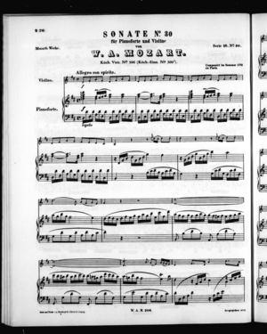 Sonate No. 30 für Pianoforte und Violine