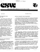 CSW Newsletter, vol. 1 no. 8, May 1981