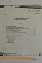 Genocide in Rwanda April-May 1994