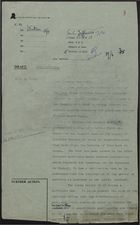 Draft of Letter from N. D. Watson to Miss H. Snow re: Letter from League of Coloured Peoples on Banning of George Padmore's Book, April 18-19, [1950]