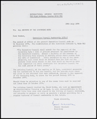 Letter from Basil Wheeler, Secretary, IAI, to All members of the governing body, 19 July 1974
