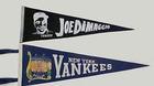 Boys' Room Dressing: Yankees Pennants