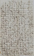 Cross-Written Letter, Unsigned, Unaddressed, April 11, 1845