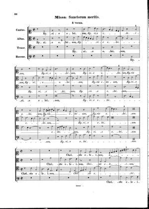 Missa Sanctorum meritis, Op. 45