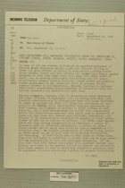 Telegram No. 291 from Francis H. Russell in Tel Aviv to Secretary of State, Sept. 23, 1954