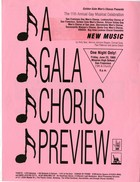 Flyer for A Gala Chorus Preview, June 23, 1989