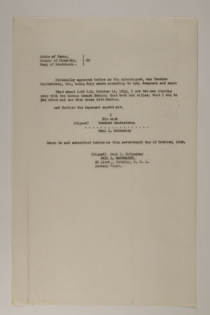 Deposition of Teodoro Santestevan, October 17, 1918