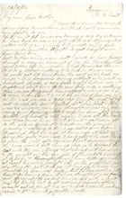 Letter from Clara Brooks to her Mother, April 14, 1886