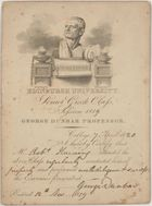 Card of University of Edinburgh Senior Greek Class, 1819, with brief report of Haining's performance as student