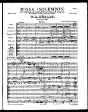 Missa, K. 337, C Major