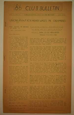 86 Club Bulletin, Vol. 1 no. 1, February 1941