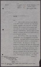 Letter from E. C. Hole to Foreign Office re: Possible End of Rebellion, November 25, 1926