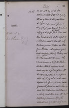 Draft of Letter from Colonial Office to Governor Olivier re: Case of James Jackson, undated