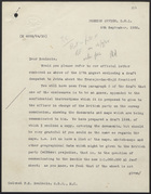Letter from H. M. Eyres to Colonel P. K. Boulnois, September 6, 1938