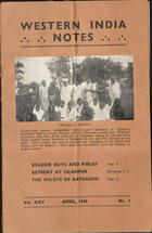 Western India Notes, Vol. 25, No. 1, April 1944