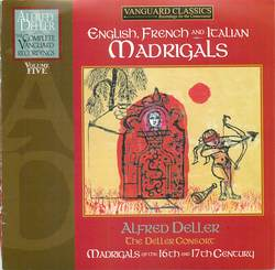 English, French and Italian Madrigals-Disc 1: Madrigals of Thomas Morley and John Wilbye Album Art