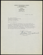 Letter from William E. Lingelbach to Ruth Benedict, October 31, 1946