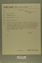Telegram from William L. Hamilton, Jr. in Jerusalem to Department of State, December 12, 1963