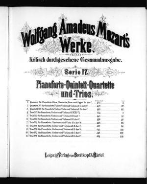 Quintet für das Pianoforte