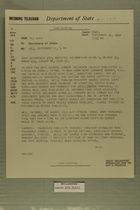 Telegram from Ogden Reid, Jr. in Tel Aviv to Secretary of State, September 11, 1959