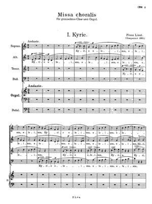 Missa choralis (Organo concinente), R.486, C Minor