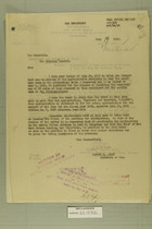 Letters from Newton D. Baker to Attorney General and J.S. Fair to Chief of Staff, July 17 and 19, 1919