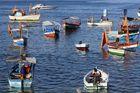 Fishing Boats at Sea During Iemanja Festival on Rio Vermelho Beach (photo)